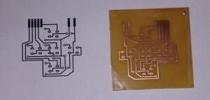 Comparativo entre Placa PCB impressa e diagrama