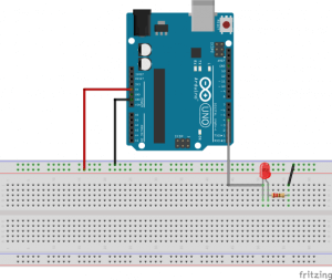 Sketch virtual arduino e led