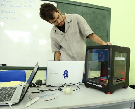 Estação 3D para estudantes do lite maker