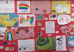 Painel Inspirador Contra Preconceito desenvolvidos por estudantes da Cambridge Friends School