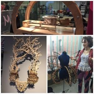 equipe visitando o NuVu, um local repleto de arte e informações